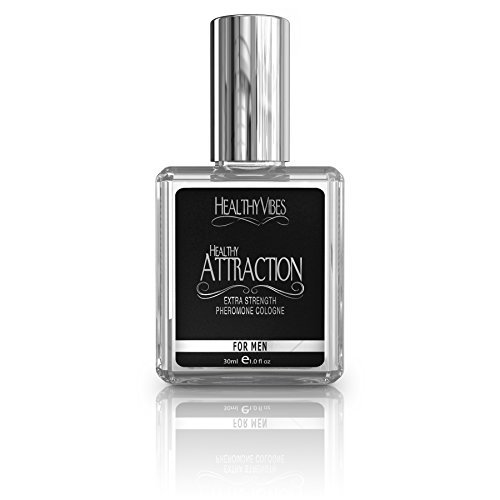 Healthy Attraction Extra Strength Pheromone Oil Infused Cologne for Men - Made with Andronone and Copulandrone Pheromones for Maximum Sexual Attraction - 1 Fl Oz Glass Bottle
