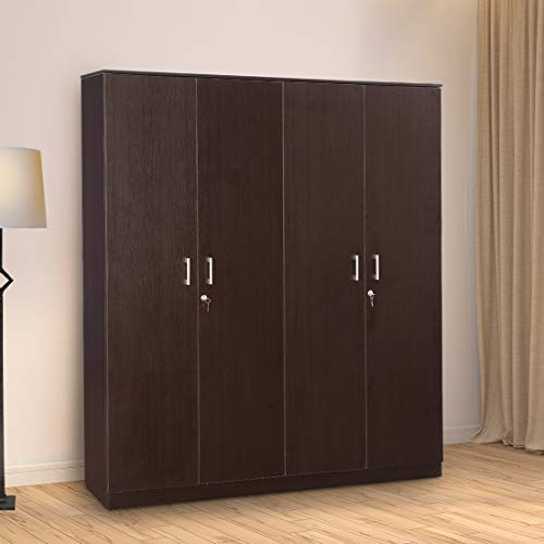 HomeTown-Prime-Engineered-Wood-Four-Door-Wardrobe-in-Wenge-Colour