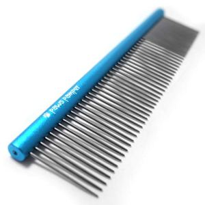 Paws Pamper Professional Anti-Corrosion Grooming Comb for Dogs & Cats, Tapered Stainless Steel Pins 11