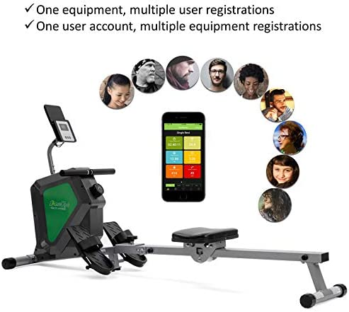 ShareVgo Smart Home Rowing Machine Bluetooth Compact Magnetic Rower with Fitness APP, Max Weight 285lbs Ergometer - SRM2000 7