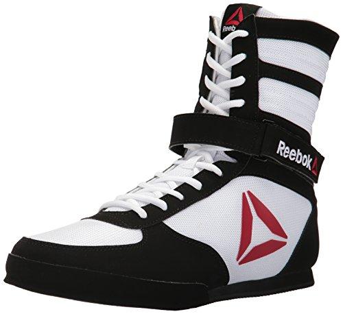 Reebok Men's Boxing Boot-Buck Sneaker, Delta-White/Black, 11.5 M US