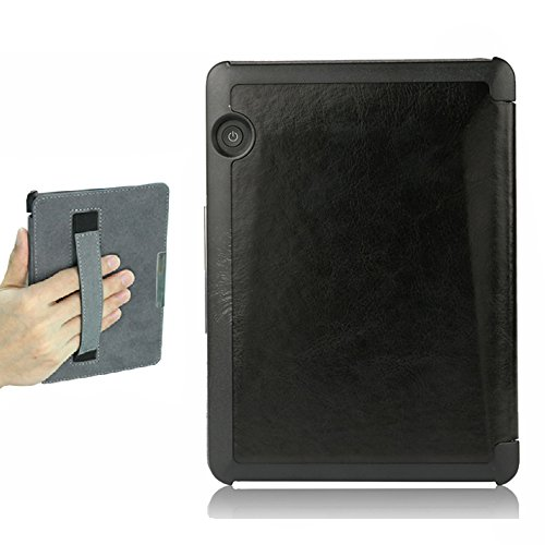 ISeeSee Kindle Voyage Case  Case for Kindle Voyage Protective Holding Leather Cover with Auto Sleep/Wake for Amazon Kindle Voyage (2014)Black