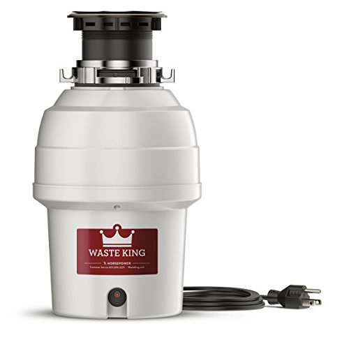 Waste King L-3200 Garbage Disposal with Power Cord, 3/4 HP