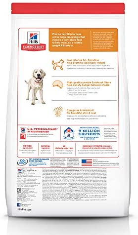 Hill's Science Diet Dry Dog Food, Adult, Large Breed, Light for Weight Management, Chicken Meal & Barley Recipe 2