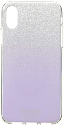 Kate Spade New York Women's Glitter Ombre Phone Case for iPhone X2 Frozen Lilac One Size