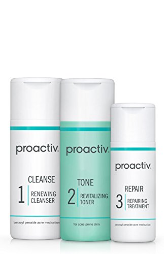 Proactiv 3 Step Acne Treatment - Benzoyl Peroxide Face Wash, Repairing Acne Spot Treatment For Face And Body, Exfoliating Toner - 30 Day Complete Acne Skin Care Kit 1