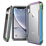 X-Doria Defense Shield Series, iPhone XR Case - Military Grade Drop Tested, Anodized Aluminum, TPU, and Polycarbonate Protective Case for Apple iPhone XR, 6.1 Inch LCD Screen (Iridescent)