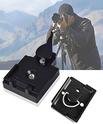 UTEBIT-323-RC2-Quick-Release-Plate-Compatible-for-Manfrotto-200PL-14-QR-Plates-Adapter-with-Rapid-Connect-Clamp-and-14-to-38-Screw-for-DSLR-Camera-Tripod-Ball-Head