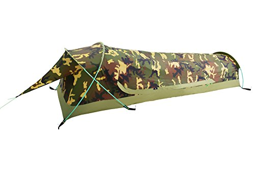 Geertop Ultralight 1-Person Waterproof BIVY Tent For Camping, Hiking, Hunting - Quick Easy Set Up (Camouflage)