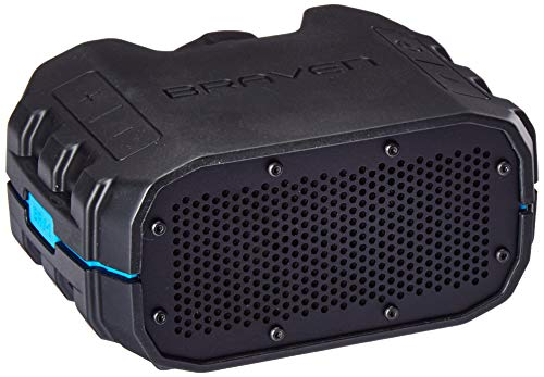 BRAVEN BRV-1 Portable Wireless Bluetooth Speaker [12 Hours][Waterproof] Built-in 1400 mAh Power Bank Charger - Black/Orange