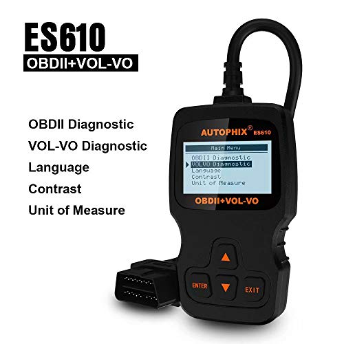 AUTOPHIX ES610 Code Reader for Volvo Engine ABS SRS Airbag Transmission Systems Auto Diagnostic Scan Tool OBD2 Scanner and EOBD OBD2 ECU Code Reader for Other Vehicles