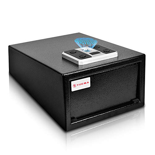 Biometric Handgun Safe, Quick Access Fingerprint Gun Safes, Smart Pistol Safe with Auto-Open Lid and...