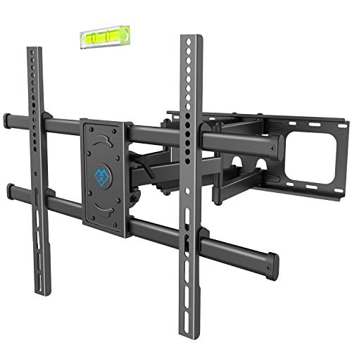 PERLESMITH TV Wall Mount Bracket Full Motion, Tilts, Swivels for most 50-90 Inch LED LCD OLED Flat Screen Plasma TVs with Dual Articulating Arms, Holds up to 165lbs VESA 800x600mm,Max Stud Spacing 24'