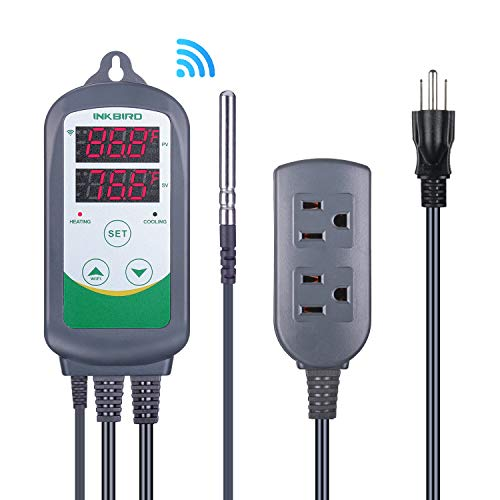 Inkbird WiFi ITC-308 Digital Temperature Controller Thermostat,Remote Monitoring Controlling,Home Brewing&Fermentation,Breeding&Incubation,Greenhouse