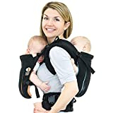 TwinGo Carrier - Air Model - Classic Black - Great for All Seasons - Breathable Mesh - Fully Adjustable Tandem or 2 Single Baby Carrier for Men, Woman, Twins and Babies 10-45 lbs