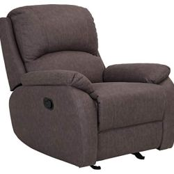 Amazon Brand – Ravenna Home Oakesdale Contemporary Glider Recliner, 35.4″W, Taupe