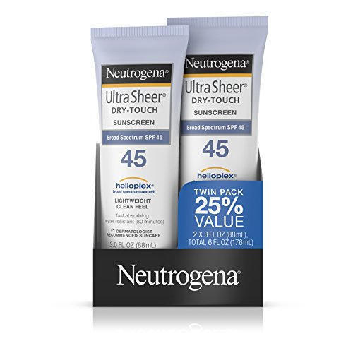 Neutrogena Ultra Sheer Dry-Touch Sunscreen, Broad Spectrum Spf 45, 3 Fl. Oz, Pack Of 2