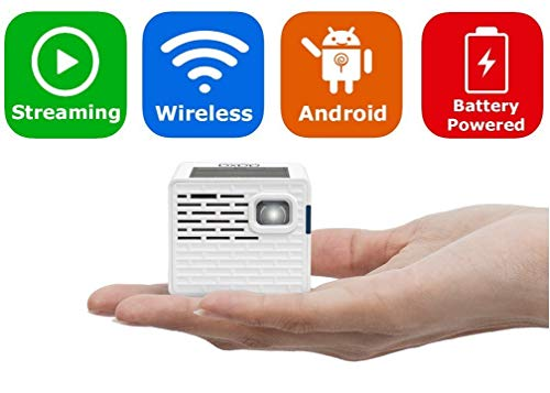 AAXA P2-A Android Smart LED Pico Projector - Support Full HD 1080P with HDMI, Android, WiFi and Bluetooth for Smartphone, iPhone, iPad, Gaming, Laptop, and Home Cinema (Renewed)