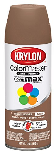 Krylon K05356202 Brown Boots 'Satin Touch' Decorator Spray Paint - 12 oz. Aerosol