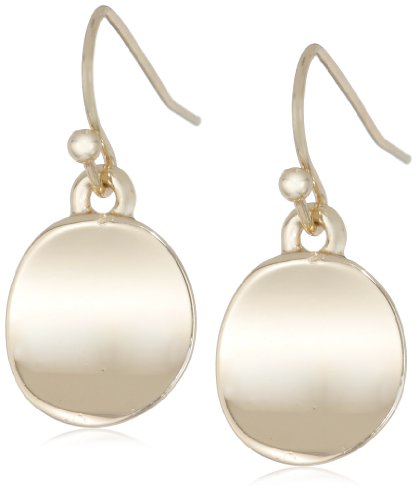 41FVFZnk9qL Metallic drop earrings featuring polished discs suspended from fishhook backings Imported