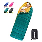 Kowell Camping Sleeping Bags for Adults & Kids Waterproof Backpacking Lightweight Sleeping Bag Comfort for 4 Season Warm & Cold Weather with Compression Sack