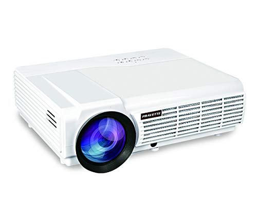 Projector PRAVETTE Outdoor Projector Support Full HD Video/1080P Movie, Home Audio/LCD,LED TV/Digital Video Recorder,Phone/PC/Camera 240'' Screen 50,000-hour Life, Model 1