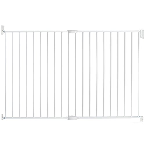"""Munchkin Extending XL Tall and Wide Hardware Baby Gate, Extends 33"""" - 56"""" Wide, White, Model MK0004"""