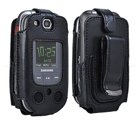 Verizon Wireless Samsung U660 - Convoy 2 Leather Case with Rotating Belt Clip