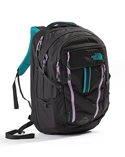 The North Face Surge Womens Kokomo Green / African Violet Backpack