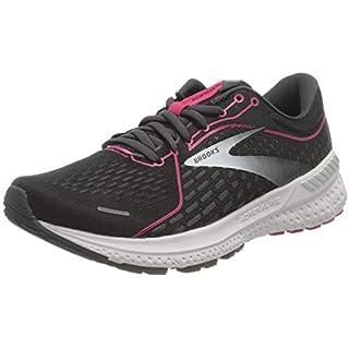Brooks Women's Adrenaline GTS 21 Running Shoe – Black/Raspberry Sorbet/Ebony – 9.5 Narrow How Often To Replace Running Shoes