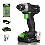 Impact Driver, GALAX PRO 20V Lithium Ion 1/4' Hex Cordless Impact Driver with LED Work Light, 6pcs Screwdriver Bits, Variable Speed (0-2800RPM)- 1.3Ah Battery and Charger Included