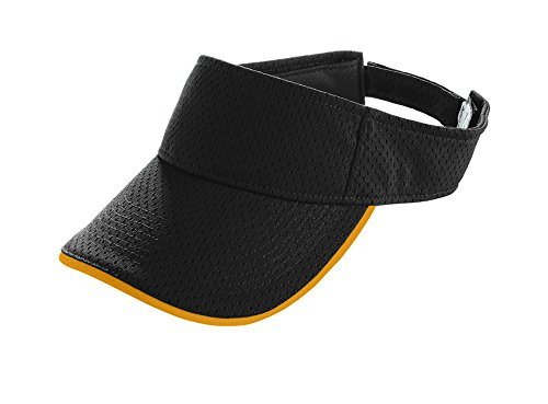 Augusta Sportswear Athletic Mesh Two-Color Visor OS Black/Gold