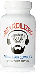 Beardilizer Facial Hair Growth Complex for Men, 90 Capsules  Image