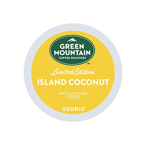Green Mountain Coffee Roasters Island Coconut, Single Serve Coffee K-Cup Pod, Flavored Coffee, 72