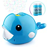 Betheaces Bubble Machine - Automatic Whale Bubble Maker Over 2000 Bubbles Per Minute Bubble Blower Toy for Kids Boys Girls Age of 4,5,6,7,8-16 Easy to Use of Indoor, Outdoor, Party, Wedding