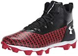 Under Armour Men's Hammer Mid RM Football Shoe, Black (004)/Red, 10 M US