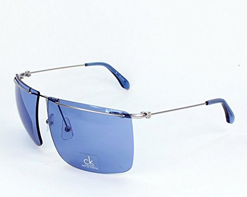 Calvin Klein CK2133S-285-62 Women's Semi-Rimless Silver-Tone Sunglasses