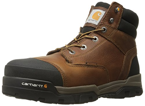 Carhartt Men's Ground Force 6-Inch Brown Waterproof Work Boot - Composite Toe, Peanut Oil Tan Leather, 9 M US - New For 2017 - CME6355
