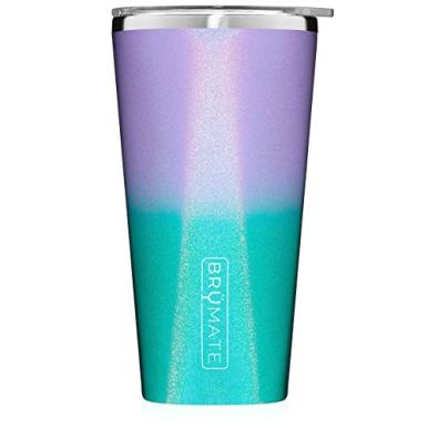 Brumate-Imperial-Pint-20oz-Shatterproof-Double-Wall-Vacuum-Insulated-Stainless-Steel-Travel-Camping-Mug-for-Beer-Cocktails-Coffee-Tea-with-Splash-Proof-Lid-for-Men-Women-Glitter-Mermaid