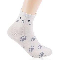 OKIE-OKIE-Women-Christmas-Gift-Socks-Animal-Cat-Dog-Art-Animation-Character-Cute-Santa-Gift-Socks-Women-Animal-Cat-Foot-Print-4pcs