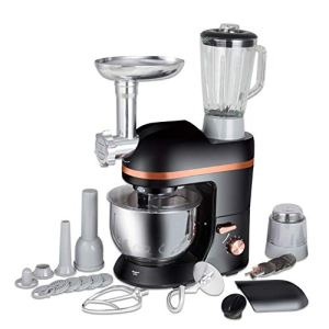 WJSW Food Mixer, Electric Mixer Food Processor Dough Kneading Machine 5L 1000W Eggs Cake Kitchen Stand Mixer Food Cooking Mixing Beater 41G woUyYTL