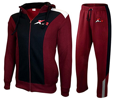 X-2 Mens Athletic Full Zip Fleece Tracksuit Jogging Sweatsuit Activewear Hooded Top 1 Fashion Online Shop 🆓 Gifts for her Gifts for him womens full figure