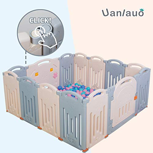 Foldable Baby Playpen Kids Activity Centre Grey