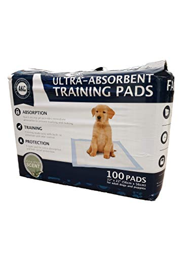 American-Kennel-Club-AKC-100-ct-Eucalyptus-Ultra-Absorbent-Odor-Control-Pet-Training-Pads-6-Layer-Protection