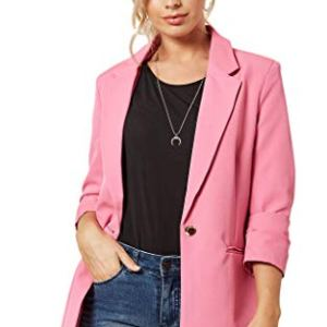 LINSIS Women's Blazer Long Sleeve Single Button Lightweight Notched Lapel Suit Ladies Office Jacket 29 Fashion Online Shop gifts for her gifts for him womens full figure