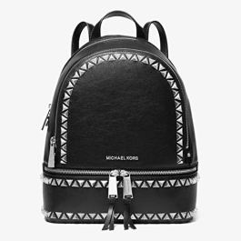 Michael Kors Rhea Ladies Medium Black Leather Casual Daypack 30H9SEZB2E001
