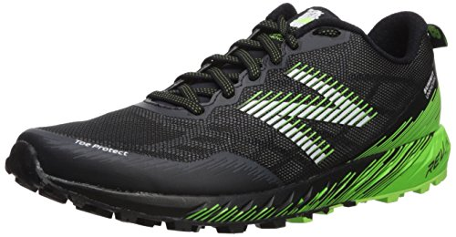 New Balance Men's Summit Unknown Trail Running Shoe, Black/Lime, 9 2E US