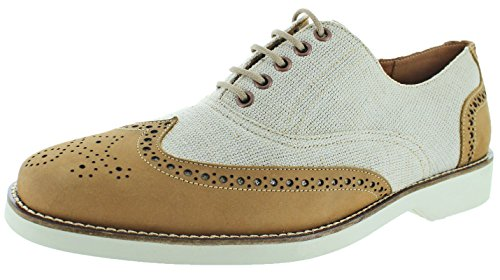 41GBrAdkKEL Donald J Pliner, hand-made production, made in the mountains of Italy The Eder is a mixed-media brogue wingtip oxford Genuine leather and fabric upper