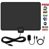 HDTV Antenna,SOBETTER Digital TV Antenna 50+ Mile Range with Detachable Amplifier and USB power supply ,13.2ft Coax Cable(2018 Newest version,supports1080p,full HD,4K )