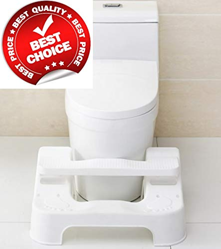 Potty Slider | New Squatting Toilet Stool White | 3 Adjustable Modes and Levels | Fits All Toilets for Adults